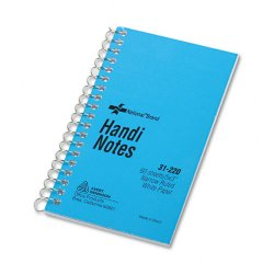 Rediform - 31220 - Wirebound Memo Book, Narrow Rule, 5 x 3, White, 60 Sheets