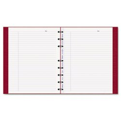 Rediform - AF9150.83 - MiracleBind Notebook, College/Margin, 9 1/4 x 7 1/4, White, Red Cover, 75 Sheets