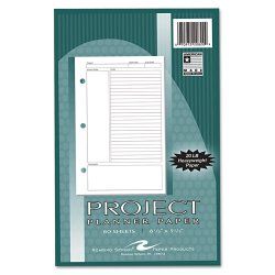 Roaring Springs - 20820 - Project Planner Paper, 8 1/2 x 5 1/2, White, 80 Sheets