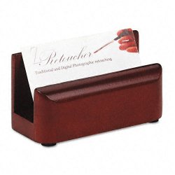 Rolodex - 23330 - Rolodex Wood Tones Business Card Holder (Each)