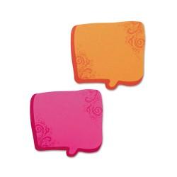 Redi-Tag - 22100 - Thought Bubble Notes, 2 3/4 x 2 3/4, Neon Orange/Magenta, 75-Sheet Pads, 2/Set