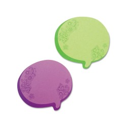 Redi-Tag - 22102 - Thought Bubble Notes, 2 3/4 x 3, Green/Purple, 75-Sheet Pads, 2/Set