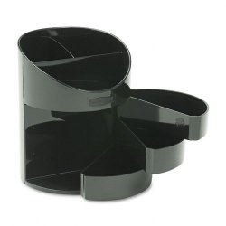 Rubbermaid - 14095ROS - Rubbermaid Jumbo Storage Pencil Cup with Drawer - 5.5 x 4.5 x 4.5 - 1 Each - Black