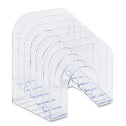 Rubbermaid - 96600ROS - Rubbermaid Jumbo Optimizer Incline Sorters - 6 Compartment(s) - 10.5 Height x 7.4 Width x 9.4 Depth - Desktop - Clear - Plastic - 1Each
