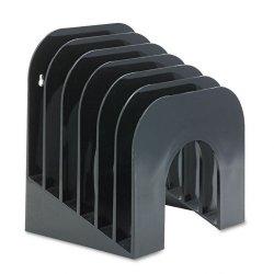 Rubbermaid - 96601ROS - Rubbermaid Jumbo Optimizer Incline Sorters - 6 Compartment(s) - 9.4 Height x 10.5 Width x 7.4 Depth - Desktop - Black - Plastic - 1Each