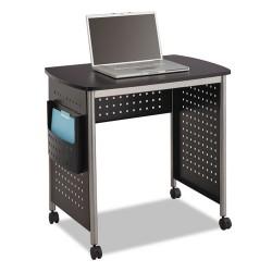 Safco - 1907BL - Computer Desk, Scoot(TM), Black, 30-1/2in.H
