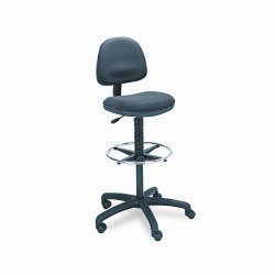 Safco - 3401BL - Safco Precision Extended Height Swivel Stool with Adjustable Footring (Each)