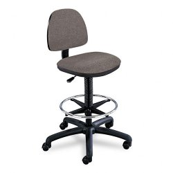 Safco - 3401DG - Safco Precision Extended Height Swivel Stool with Adjustable Footring (Each)