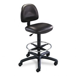 Safco - 3406BL - Safco Precision Extended Height Swivel Stool with Adjustable Footring (Each)