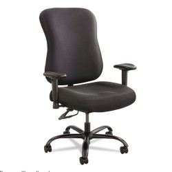 Safco - 3590BL - Black Fabric Desk Chair 22 Back Height, Arm Style: No Arms