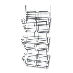 Safco - 4151CH - Safco PanelMate Triple File Basket - 3 x Shelf Bin - 29.5 Height x 15.5 Width x 8.5 Depth - Panel Wall - Charcoal, Charcoal Gray - Steel - 1Each