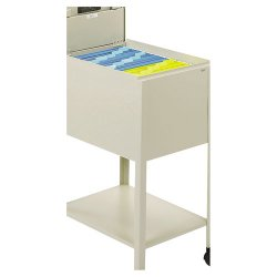Safco - 5361PT - Safco Standard Mobile Tub File with Lock, Letter Size - 300 lb Capacity - 4 Casters - Steel - 13.5 Width x 19.3 Depth x 28 Height - Putty