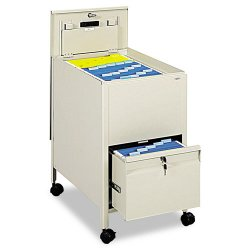 Safco - 5364PT - Safco Rollaway Letter File - 4 Casters - Steel - 17 Width x 26 Depth x 28 Height - Putty