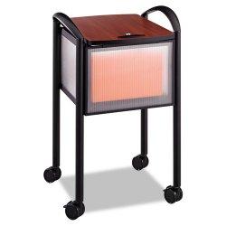 """Safco - 5374BL - Safco Impromptu Mobile File Cart - 4 Casters - 2.50"""" Caster Size - Steel, Plastic - 20.3"""" Width x 21.5"""" Depth x 30.8"""" Height - Steel Frame - Black"""