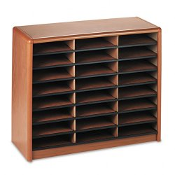 Safco - 7111MO - Safco Compartment Literature Sorter - 550 x Sheet - 24 Compartment(s) - Compartment Size 2.50 x 9.75 x 12.50 - 25.8 Height x 32.3 Width x 13.5 Depth - Recycled - Medium Oak - 1Each
