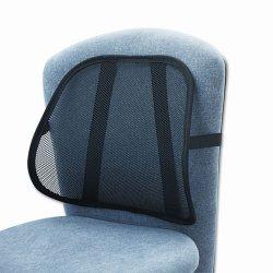 Safco - 7153BL - Safco Mesh Backrest - Adjustable Strap - 17.5 x 3 x 15 - Black
