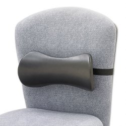 Safco - 7154BL - Safco Memory Foam Lumbar Support Backrest - Washable - Strap Mount - 14.5 x 3.8 x 6.8 - Black