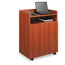 Safco - 8919CY - Safco Executive Presentation Stand - 40.8 Height x 29.5 Width x 20.5 Depth - Floor Stand - Laminate - Wood, Particleboard - Cherry