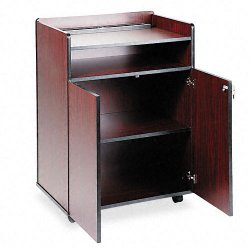 Safco - 8919MH - Safco Executive Presentation Stand - 1 x Shelf(ves) - Particleboard - Mahogany