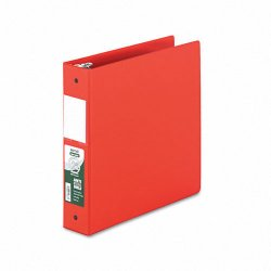 Samsill - 14363 - Samsill Clean Touch Antimicrobial Round Ring Binders - 2 Binder Capacity - Letter - 11 x 8 1/2 Sheet Size - D-Ring Fastener - 2 Internal Pocket(s) - Vinyl - Red - Recycled - 1 Each