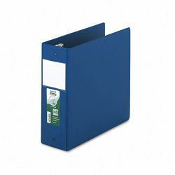 Samsill - 14392 - Samsill Clean Touch Antimicrobial Round Ring Binders - 4 Binder Capacity - Letter - 8 1/2 x 11 Sheet Size - 3 x Round Ring Fastener(s) - 2 Internal Pocket(s) - Blue - 1 Each