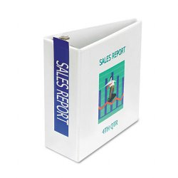 Samsill - 16207 - Samsill Antimicrobial D-Ring Binder - 5 Binder Capacity - Letter - 8 1/2 x 11 Sheet Size - D-Ring Fastener - 2 Internal Pocket(s) - White - Recycled - 1 Each