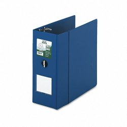 Samsill - 16302 - Samsill Clean Touch Antimicrobial D-Ring Binders - 5 Binder Capacity - Letter - 8 1/2 x 11 Sheet Size - D-Ring Fastener - 2 Internal Pocket(s) - Vinyl - Blue - Recycled - 1 Each