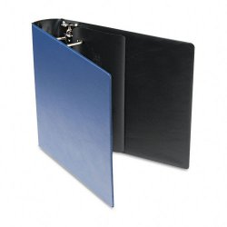 Samsill - 17662 - Samsill Contour Cover D-Ring Reference Binder - 2 Binder Capacity - D-Ring Fastener - 1 Inside Front Pocket(s) - Dark Blue - Recycled - 1 Each
