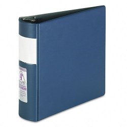 Samsill - 17692 - Samsill DXL/Contour Cover D-Ring Binders - 4 Binder Capacity - Letter - 8 1/2 x 11 Sheet Size - D-Ring Fastener - Internal Pocket(s) - Blue - Recycled - 1 Each