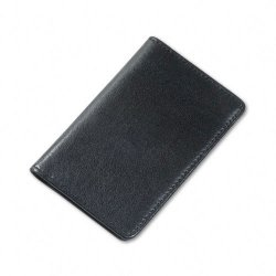 Samsill - 81220 - Samsill Carrying Case (Wallet) for Business Card - Black - Leather