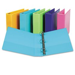"Samsill - U86677 - Samsill Fashion Color Presentation View Binders - 2"" Binder Capacity - Letter - 8 1/2"" x 11"" Sheet Size - 450 Sheet Capacity - Round Ring Fastener - 2 Internal Pocket(s) - Vinyl, Chipboard - Turquoise - Recycled - 2 / Pack"