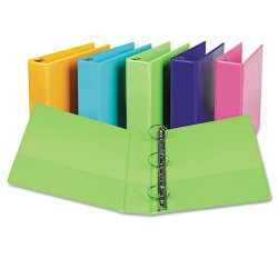 "Samsill - U86678 - Samsill Presentation View Binder - 2"" Binder Capacity - Letter - 8 1/2"" x 11"" Sheet Size - 450 Sheet Capacity - Round Ring Fastener - 2 Internal Pocket(s) - Chipboard, Vinyl - Lime - Recycled - 2 / Pack"