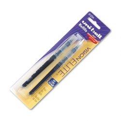 Sanford - 61234PP - Uni-Ball Vision Elite Rollerball Pen Refill - 0.80 mm - Blue, Black - 2 / Pack