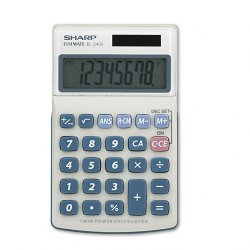 "Sharp - EL-240SB - Sharp Calculators Pocket Calculator - 8 Digits - LCD - Battery/Solar Powered - 2.8"" x 4.3"" - White, Blue - 1 Each"