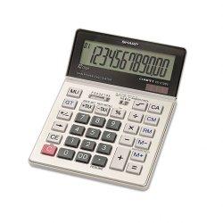 Sharp - VX2128R - Sharp Calculators Sharp VX2128V Desktop Calculator - 12 Digits - LCD - Battery/Solar Powered - 0.9 x 5 x 7 - Gray - 1 Each