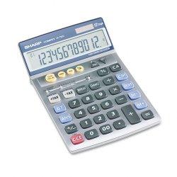 Sharp - VX792C - Sharp Calculators VX792C Desktop Calculator - 12 Digits - LCD - Battery/Solar Powered - 5.1 x 8.2 x 0.8 - Gray - 1 Each