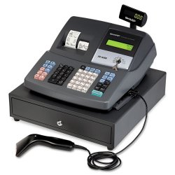Sharp - XEA507 - XE Series Cash Register w/Scanner, Thermal Printer, 7000 Lookup, 40 Clerks, LCD