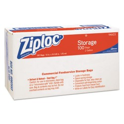 S.C. Johnson & Son - 682253 - Ziploc 2-Gallon Storage Bags - Extra Large Size - 2 gal - Clear - 1Carton - 100 Per Carton - Food