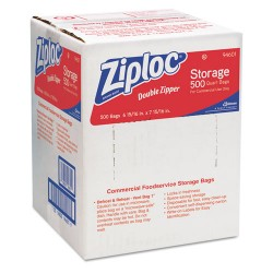 S.C. Johnson & Son - 682256 - Ziploc Quart Storage Bags - Medium Size - 1 quart - x 1.75 mil (44 Micron) Thickness - Clear - 1Box - 500 Per Box - Food