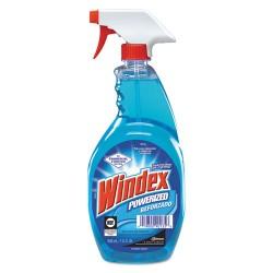 S.C. Johnson & Son - 687374EA - Windex Powerized Glass Cleaner - Ready-To-Use Spray - 0.25 gal (32 fl oz) - 1 Each - Blue