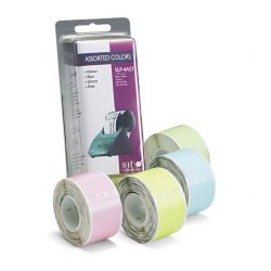 Seiko Instruments - SLP-4AST - Seiko Address Label - 3.50 Width x 1.12 Length - 130 / Roll - Rectangle - Direct Thermal - Assorted, Green, Blue, Pink - 1 / Each
