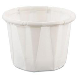 Solo Cup - 050-2050 - Paper Portion Cups, .5oz, White, 250/Bag, 20 Bags/Carton