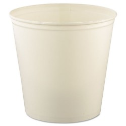 Solo Cup - 10T3-N0199 - Double Wrapped Paper Bucket, Waxed, White, 165oz, 100/Carton