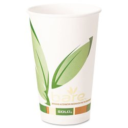 Solo Cup - 316RC-J8484 - Bare by Solo Eco-Forward Recycled Content PCF Paper Hot Cups, 16 oz, 1, 000/Ct