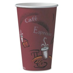 Solo Cup - 316SI-0041 - 16 oz. Disposable Hot Cup, Paper, White, PK 1000