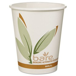 Solo Cup - 370RC-J8484 - Bare by Solo Eco-Forward Recycled Content PCF Paper Hot Cups, 10 oz, 1, 000/Ct