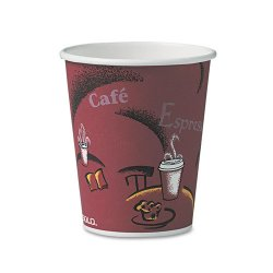 Solo Cup - 370SI - Bistro Design Hot Drink Cups, Paper, 10oz, 50/Pack