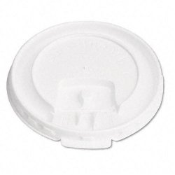Solo Cup - DLX10R-00007 - Liftbk & Lock Tab Cup Lids for Foam Cups, Fits 10oz Cups, White, 2000/Carton