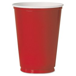 Solo Cup - PS10R - Plastic Party Cold Cups, 10oz, Red, 50/Pack