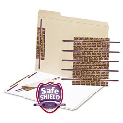 "Smead - 68216 - Smead Self-Adhesive Fastener with SafeSHIELD® Coated Fastener - 5"" Length - 2"" Size Capacity - 50 / Box - Purple"